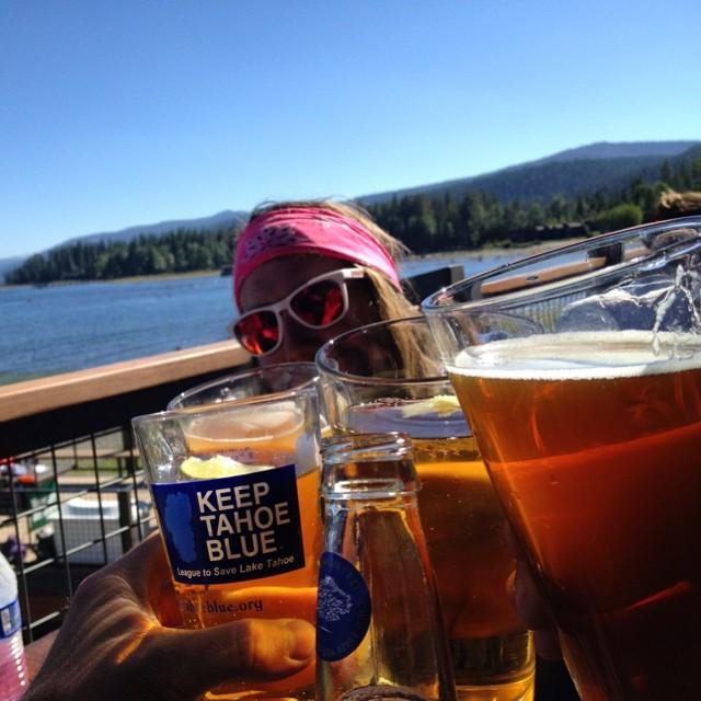 Celebratory Moe's @b4bc #bluebird #laketahoe #skatethelake #skateboarding #longboarding #cheers #keeptahoeblue #tahoe