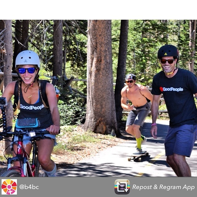 10 more miles to go - rockin the tunes @fugoolife @b4bc #skatethelake #regram #skateboarding #longboarding #squawvalley #tahoe #laketahoe #mountainlife #shredlife #skatelife #sk8 #bike #goodpeople #gobigdogood