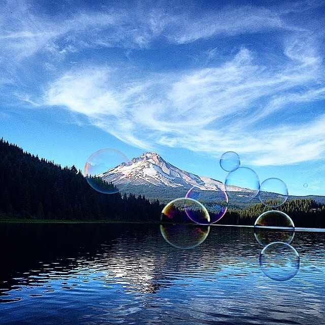 Wicked capture of our home, #MtHood captured by @nial_romanek . #GetOutside and enjoy the weekend. #Reflection #PNW