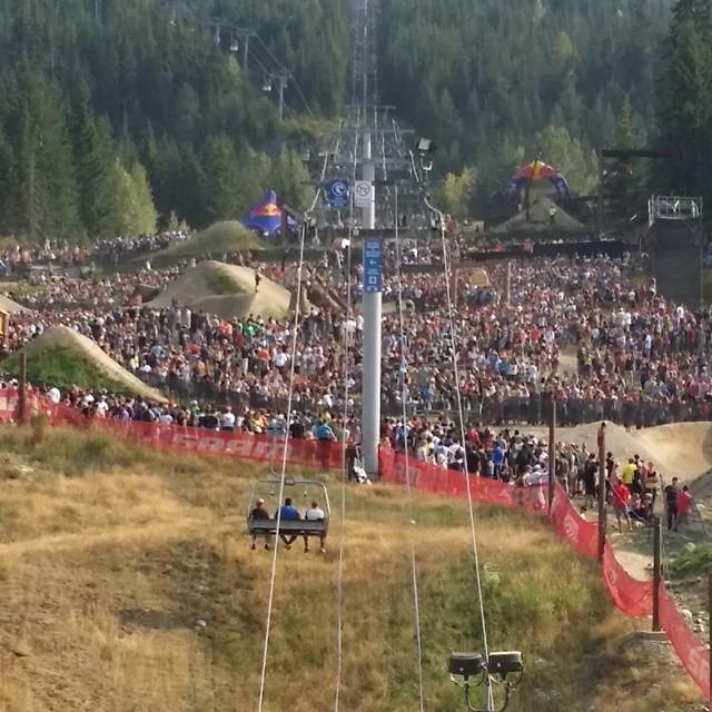 The crowd was ridiculous today at Redbull Joyride, Kali rider @nicholirogatkin was a crowd favorite stomping a huge cashroll #gobig #cashroll