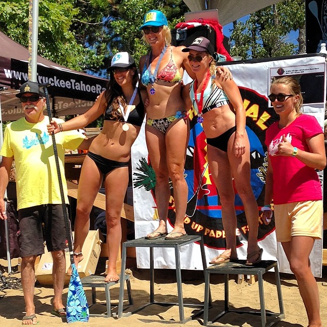 3rd place in the 5 mile race at the @tahoenalu race! So stoked to paddle with such amazing athletes! @lfthndldy lead the way, congrats girl! Thanks @boardworkssurfsup for letting me paddle the 12'6 Eradicator. I think I'm getting the hang of the flat...