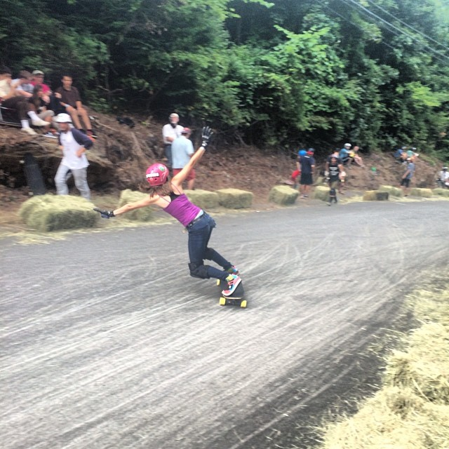 Micaela Wilson throwin a big toeside at the #CentralMass5 slide jam. #Truncated #Tesseract