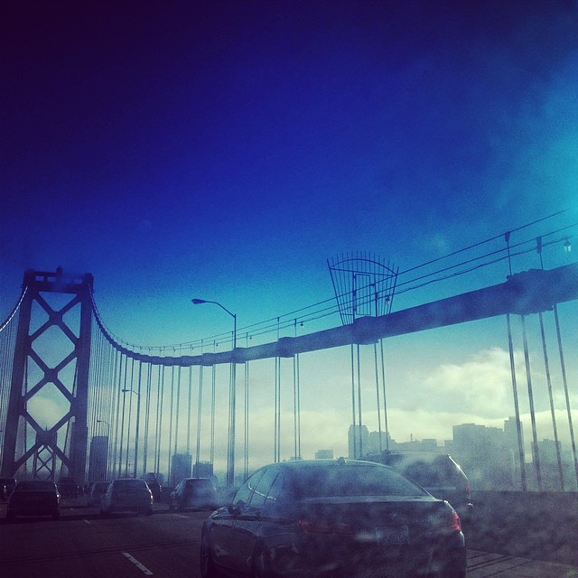 After six hours in a car with no AC, #sannyfranny in all its foggy glory has never looked so good.  #ballersonabudget #sanfrancisco #california