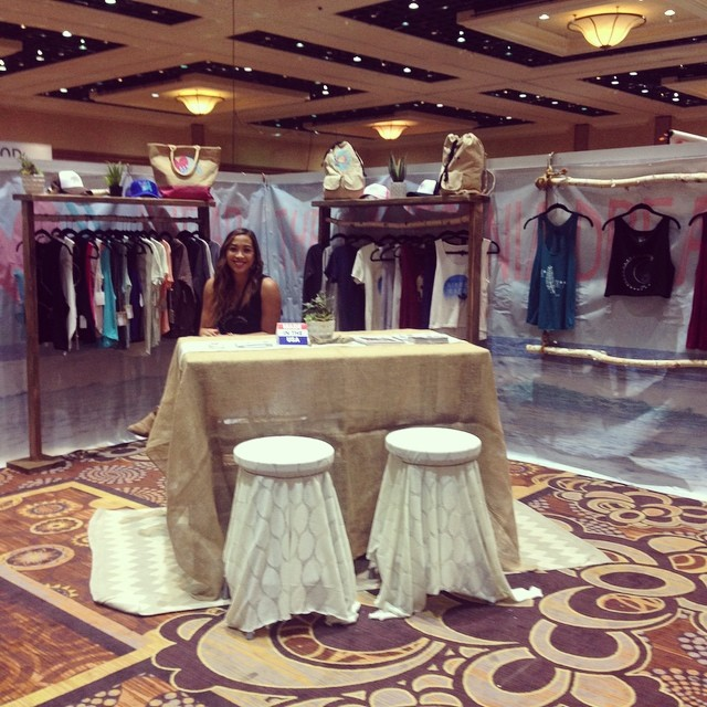Come see @luvsurfapparel at @pooltradeshow - Booth #1143! #pooltradeshow #magicmarket #wearthecalidream