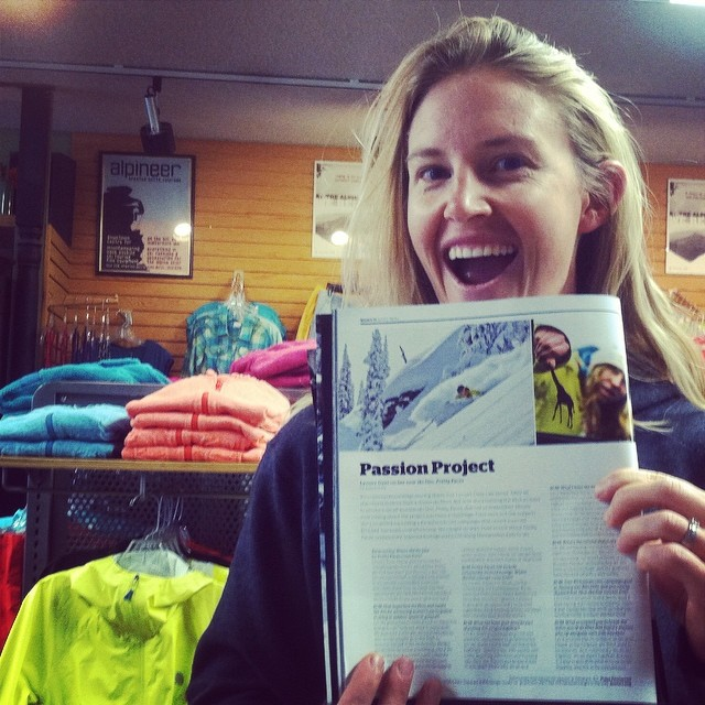 Local #CrestedButte ripper and @prettyfaces skier @sydneydickinson poses with @lynseydyer's #prettyfaces article in this month's @backcountrymag issue. #winteriscoming #chickswhorip #sendit