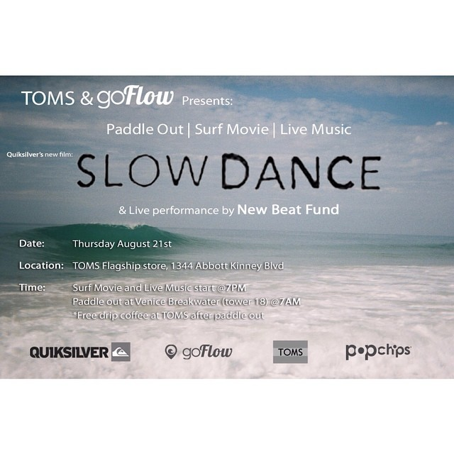 Hope to see everyone at the Surf Movie Night + Paddle Out this Thursday! It will be buckets of fun and there will even be a live performance from New Beat Fund! And did we mention the complementary Wine and Beer that will be served? Be sure to RSVP by...