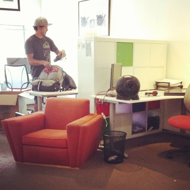 Moved into our new office today! #dogpatch #HQ #settingup #moving