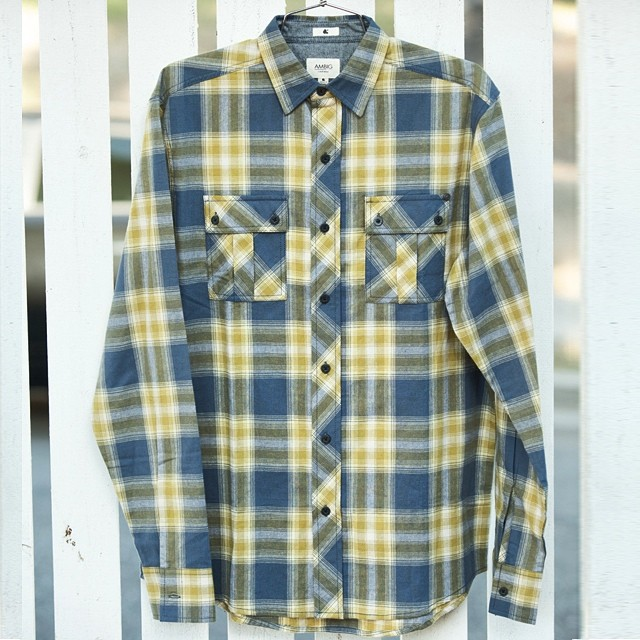 "The ""TRIPPER"" flannel. Part of our new Fall 14 line available now! #ambigclothing #fall14 #tripper"