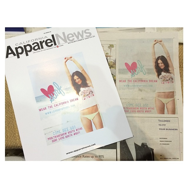 Check out our ad in #californiaapparelnews! #wearthecalidream #luvsurfapparel