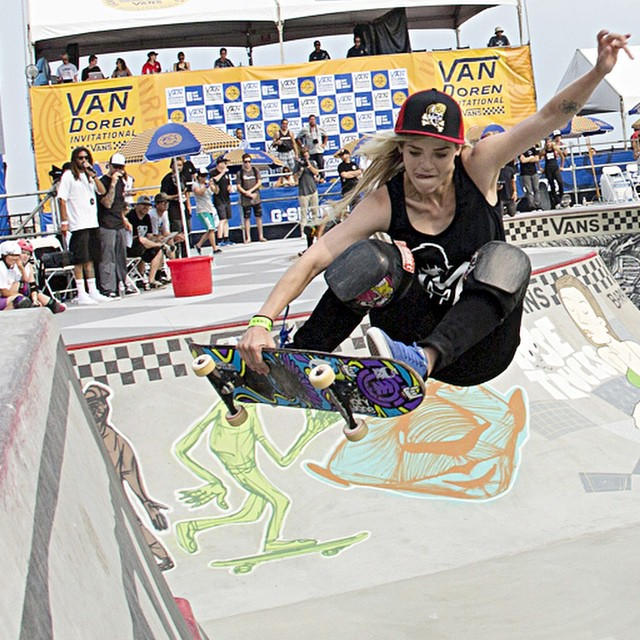 Karen Jonz (@karenjonz) at the #VanDorenInvitational a few weeks back in #HuntingtonBeach.