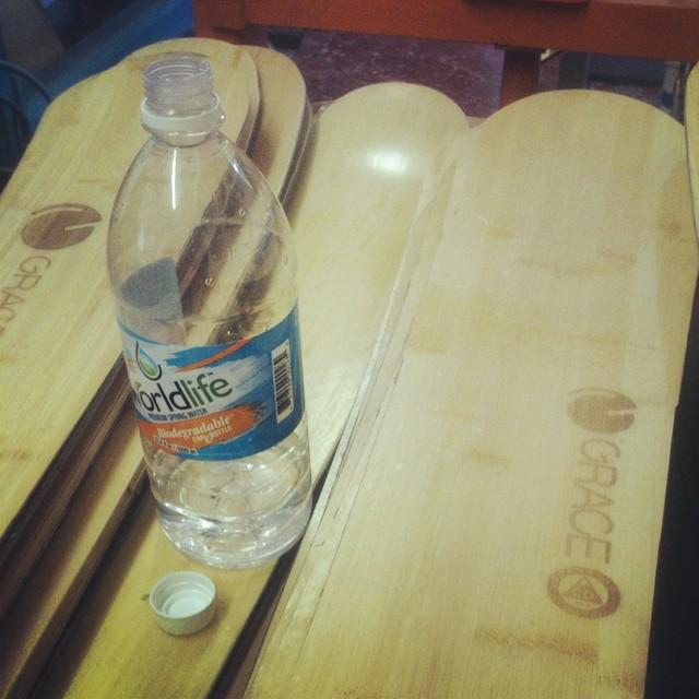That's good water  @drinkworldlife  #biodegradable bottle