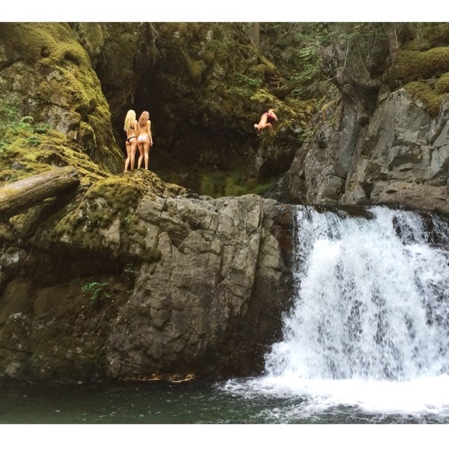Some good ol fashion #BC adventuring with @chrisrasman and some good looking life guards . #GetOutside #Waterfalls