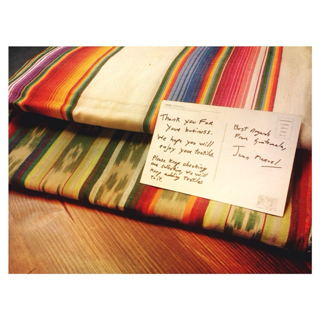 Our boy Juan is on the hunt for Guatemala's finest. #tahoemade #textiles