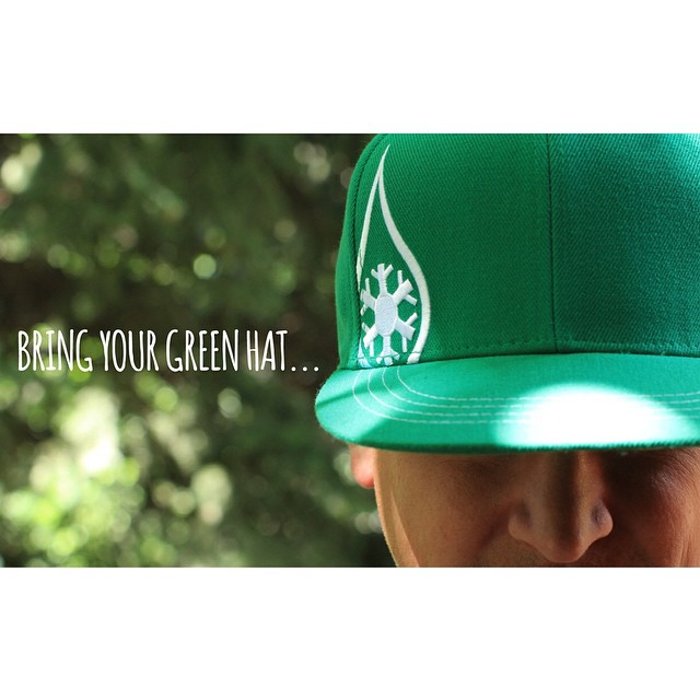 """Bring Your Green Hat..."" GIVEWAY!  Just LIKE, COMMENT, and TAG YOUR FRIENDS for your chance to win this fresh new lid.  What are some other colors you would like to see?  #kinddesign #bringyourgreenhat #colorado #design #headwear #liveyourdream"