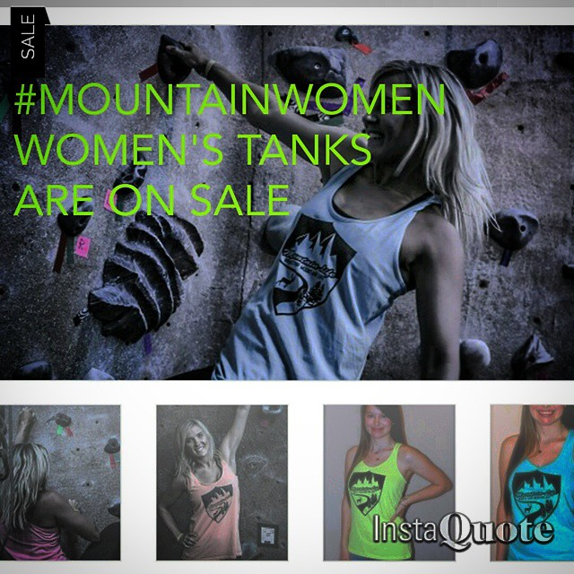 In honor of #mountainwomen #Wednesdays all of our women's tanks are on SALE visit: MOUNTAINLIFECO.com  STOCK UP NOW before stock runs out. These are limited edition racerbacks, great for #rockclimbing #climbing #hiking #trailrunning #camping...