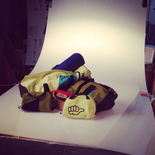 Dopp kits, duffles, and yoga bags from warrantied garments coming soon!  Exclusively on our website.  #technylish #reuse