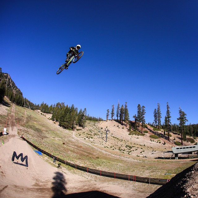 @camzink sending it dirt to dirt this morning! The #mammothflip is coming up tomorrow @mammothmountain