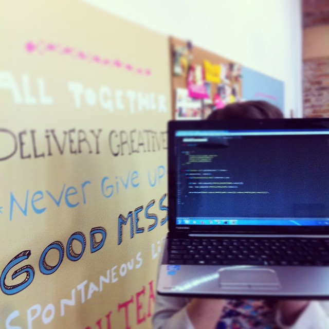 our ECommerce Manager starts her morning with some really #goodmess #programming #paezteam