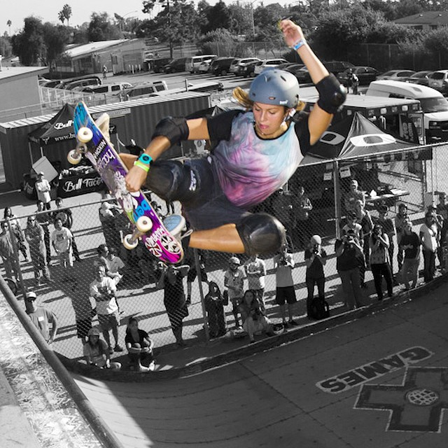 Frontside style with Nora Vasconcellos at #EXPOSURE2012.