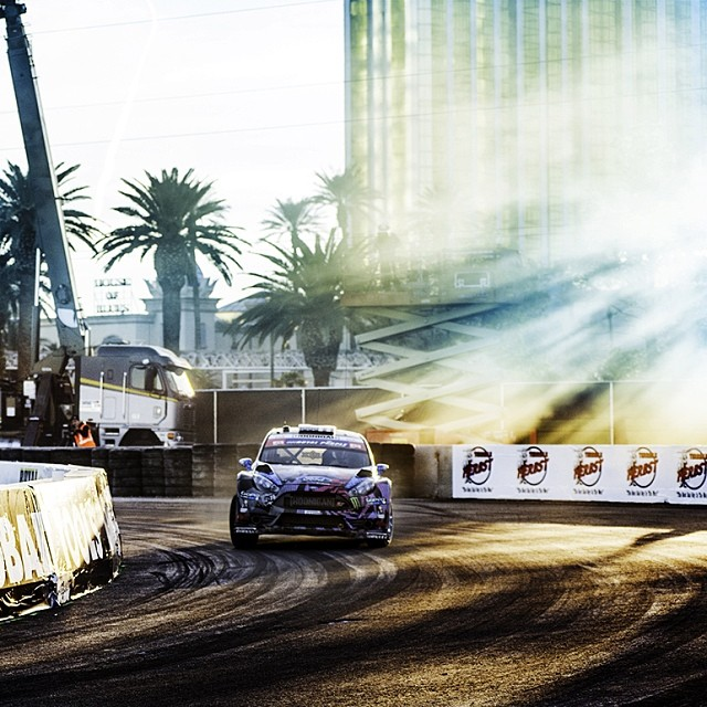 Global Rallycross in Vegas! Track looks great, and we're ready for the main event tomorrow. #grc