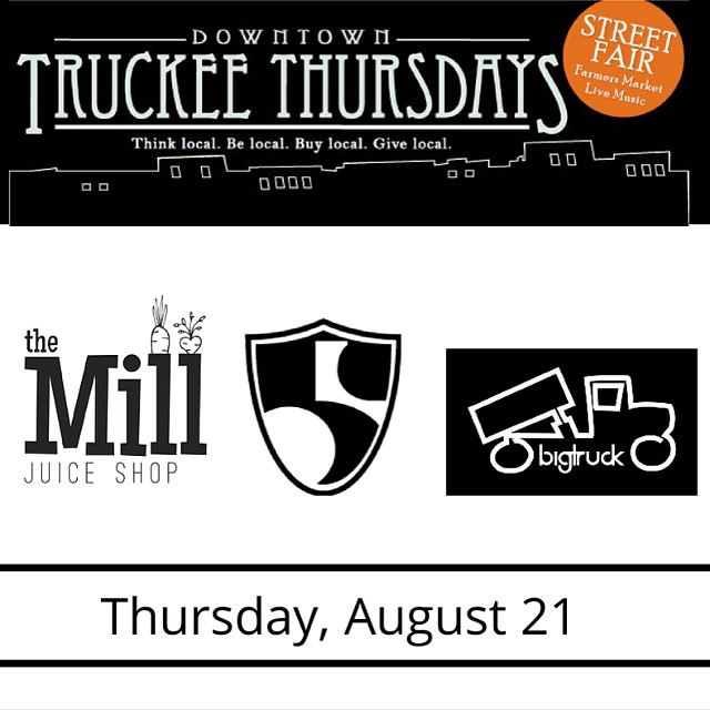 Today. @bigtruckbrand @themilljuiceshop #truckeethursdays