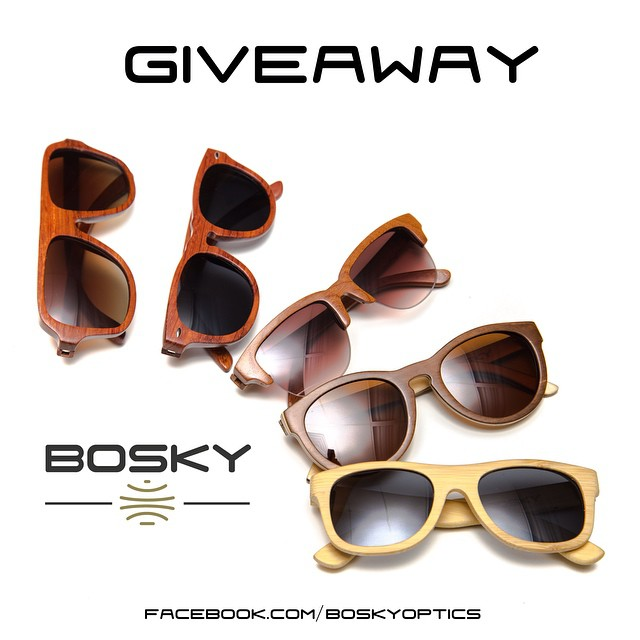 The Bosky Facebook giveaway ends in less than 24 hours! Enter now for your chance to win 1 of 5 pairs of wood sunglasses. #bosky