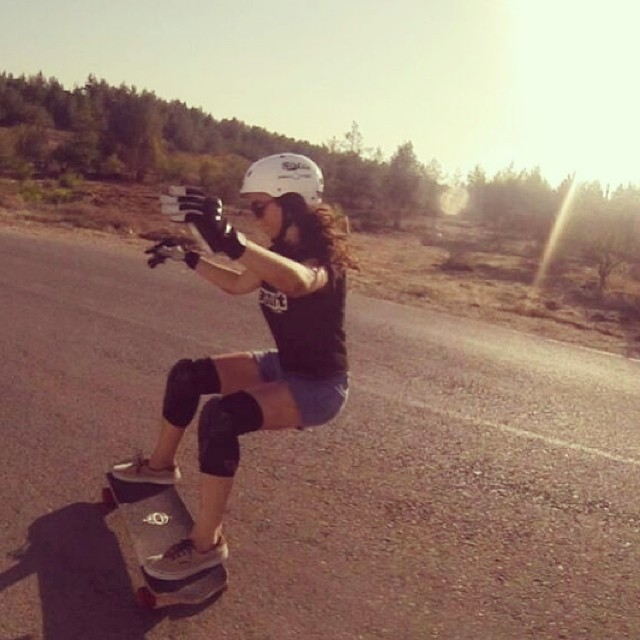 #LGCOpen rider @jennarus during a hot #Israeli session. Have you seen the trailer yet? #slidelikeaboss #Kangarusso @vaultskate