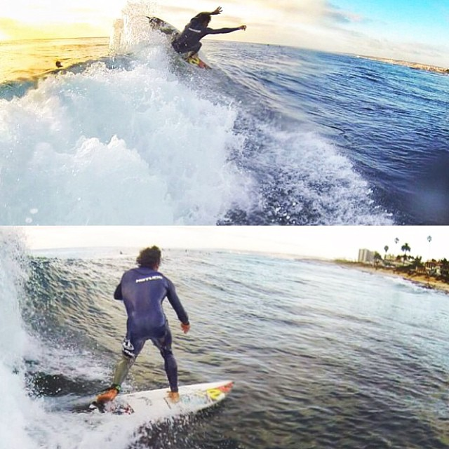~Sick little sequence from @kaleuwildner of Heitor Alves @heitorsurf ~ #HotlineWetsuits #SantaCruz