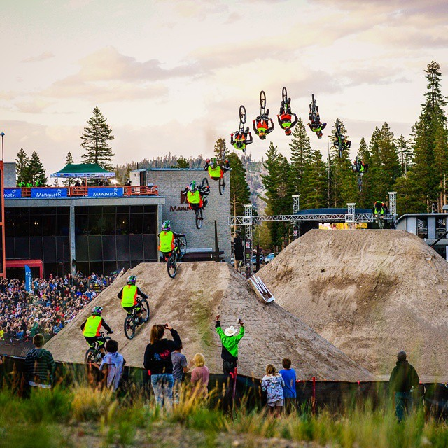 Cam Zink, check. Mammoth Mountain, check. World record 100-ft. backflip, STOMPED.  The #MammothFlip was sick! Click the link on our profile page to check it out. #DareBigger (Photo via @espnimages)