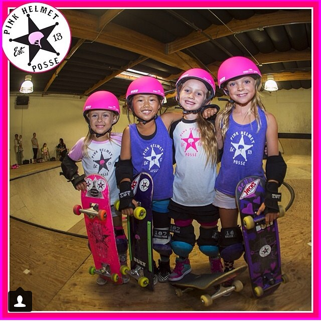 Watch out boys! The @pinkhelmetposse is shredding!!!⚡️⚡️⚡️ check out the #bulthelmets #pinkhelmetposse colab helmets! Keep painting the parks pink @bellakenworthy @rock_n_relz @sierrakerr @girlnamedryann #bult #officialhelmetofthephp