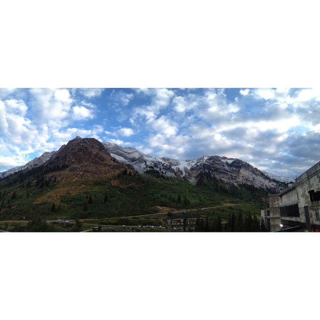 Man I love working up at Snowbird, but this snow in August is such a tease! I'm over this whole summer thing. #winteriscoming #jonesingforwinter