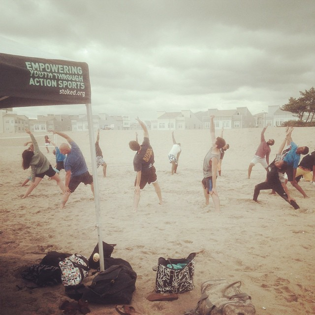 Empowering Youth through action sports - and yoga! #stokedbeachparty #nyc #rockaways #surf #stoked