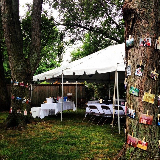 Before the thunderstorm hit #humid #midwest #dogdays #backyard #summer #party #40thanniversary #pinterest #chicago