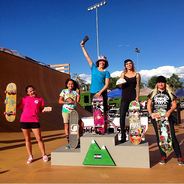 Congrats to Gaby Ponce for defending her vert title at the @sk8_strong #RockyMountainRampage today in Colorado! Julz Lynn landed in 2nd and Spencer Breaux took 3rd.