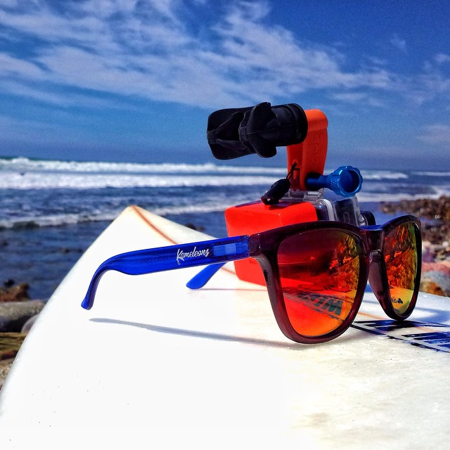 Some essentials for a good day in Mexico. #Kameleonz shades, Surfboard, @GoPro, and @MyGoMount | #LifesABeach #Surfing #GoPro pic by @MyGoMount