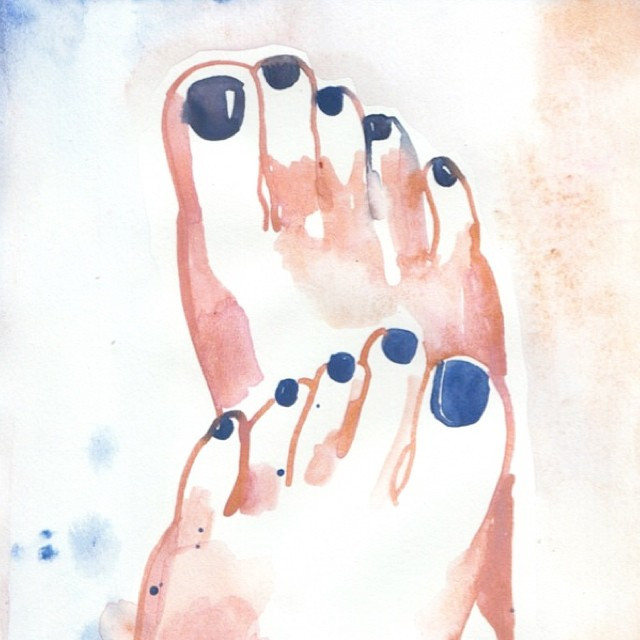 Barefoot is better (watercolor by this cutie @nataliaresmini)