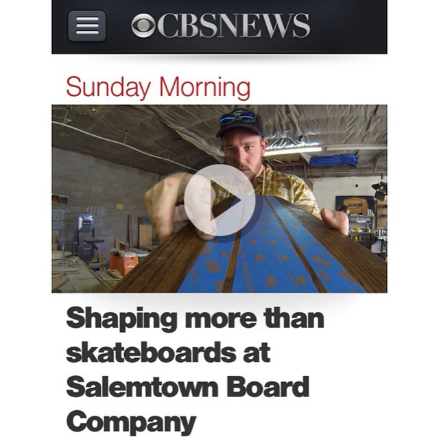 We were just featured on CBS Sunday Morning! If you missed the clip, go to CBS.com and search Salemtown Board Co! #handmade #skateboards #skateboard #nashville #surfnashville