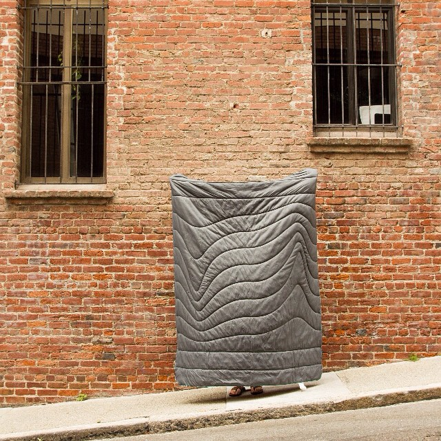 Old meets new. Photo submitted by @zachrickenbach #gorumpl #urbanfabric #squiggle #brick