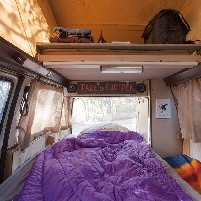 "Our good friend and road adventurer @63mph has been on the road in his Westfalia for nearly 500 days straight. We caught up with him last time he was in San Francisco and gave him a blanket to test out. he reports back ""I don't worry about the blanket..."