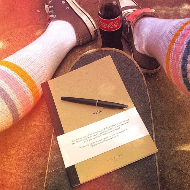 Tube socks, chucks, skateboard, AllSwell: combo by #allswellmuse and creative lass @thesunsetsessions. How do you #AllSwell?