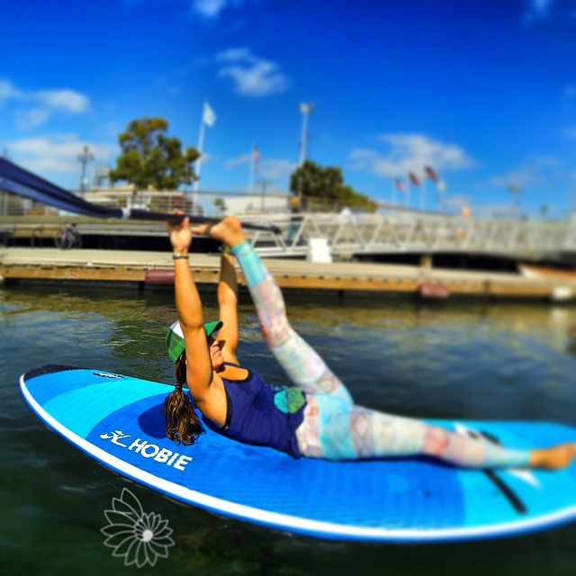 SUP PILATES...with a paddle assist. #inspiralchange
