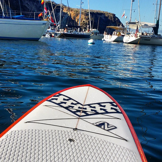 Not every day is a surf day. Loving a blissful weekend at Cherry Cove in Catalina with an Invert Ecolicious SUP @invertsup