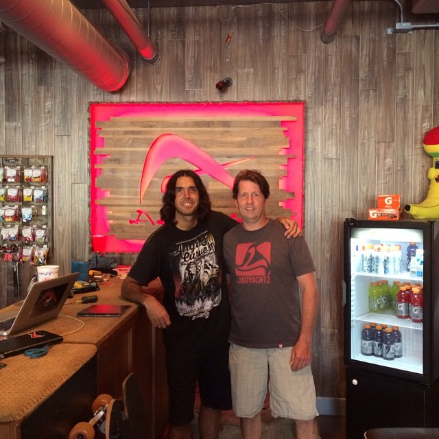 Boss man Matthew Kelly (owner of Predator Helmets) was recently down In California and visited Pablo, owner of Adrenalina Longboard Skate Shop, a Predator dealer, located in La Jolla. Be sure to go check the shop out if you're ever in the area!