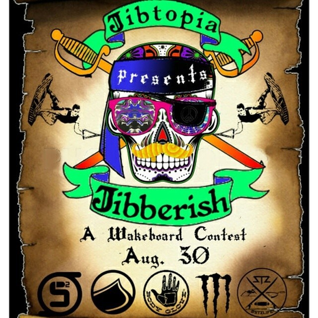 This Saturday Aug. 30th! Come out to @jibtopia for good times and a fun contest // $$$ cash payout // stop by our tent to grab some stickers and check out new product // #happyshredding #jibberish #wakeboard #cablepark #wakecontest #cashprize #stzlife