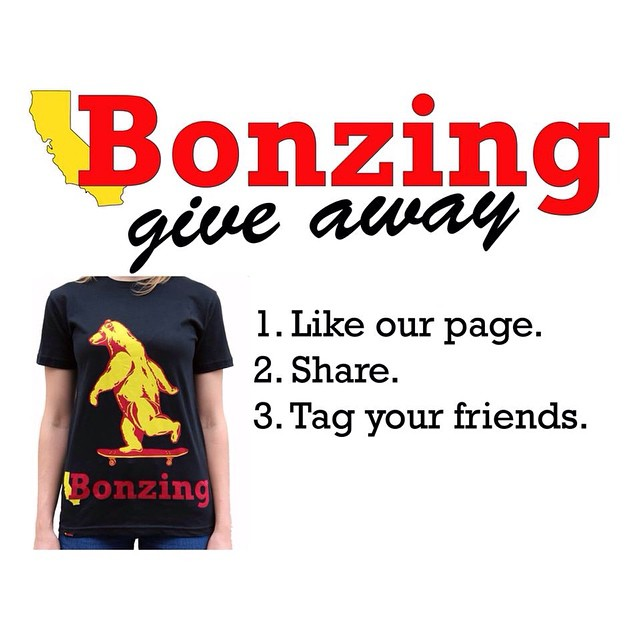 We are having a contest on Facebook to celebrate the newest t-shirt in our apparel line; the Bonzing Bear!  Cruise over to Facebook/californiabonzing now to get in on the fun and to win this awesome t-shirt!  #bonzing #sanfrancisco #shapers #artists...