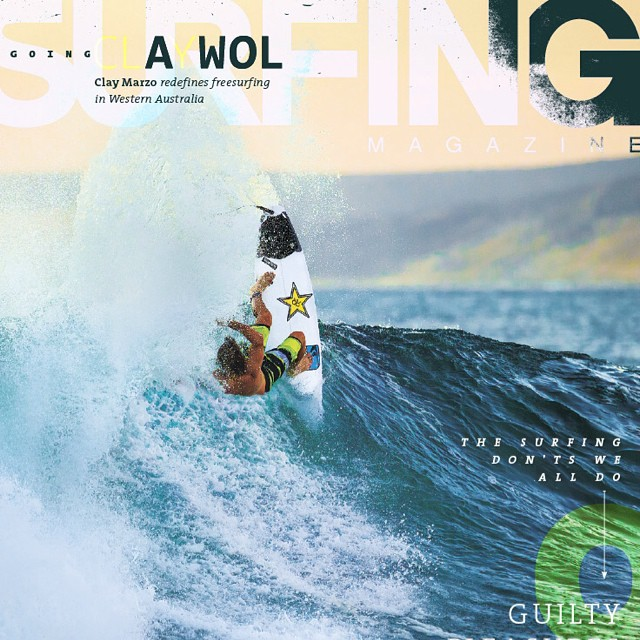 "Current cover shot of SURFING Mag has feakazoid Clay Marzo laying down a ""typical"" top turn - on his ECOBOARD from SUPERBrand :). This marks a major milestone for our ECOBOARD Project, and while it's the first time it's ever happened, it won't be the..."