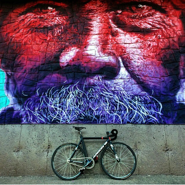 Photo cred: @delaneyridesfixed  #artwork #awesome #fixedgear