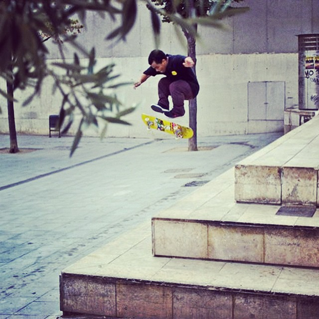 @angelrcardenas #3shuv macba during he's trip to Europe last year.