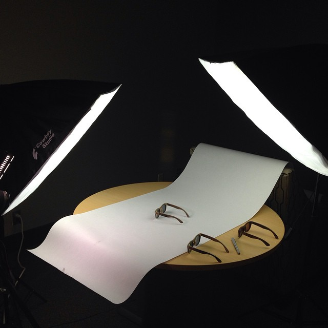 Fun in the photo studio! New product photos on our website at www.boskyoptics.com #bosky #photooftheday #photoshoot