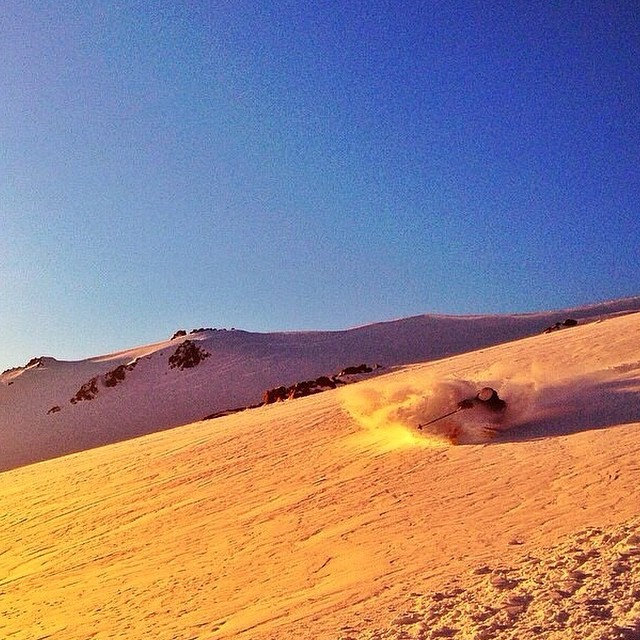 Flylow's @theromashko finding the goods with some amazing light in S. America today. PC @mereditheades